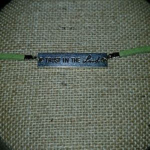 "Jewelry - New Leather and metal ""Trust In The Lord"" bracelet"